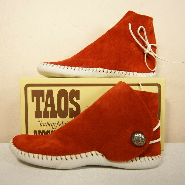 TAOS Womens MOCCASINS Button Rust 2060w