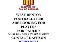 Junior football players still needed
