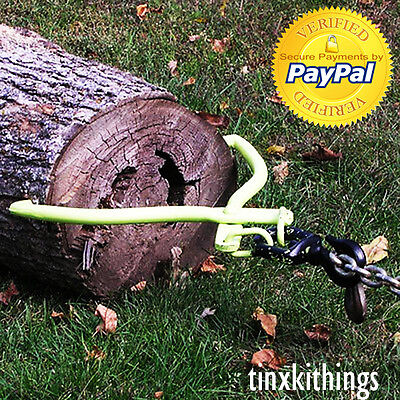 Heavy Duty Log Skidding Tongs Swivel Dragging Move Grabber Lifting Tool Forestry