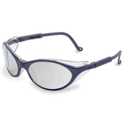 Uvex Bandit Safety Glasses With Indoor Outdoor Mirror Lens Blue Frame