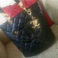 Chanel Black Quilted Handbag