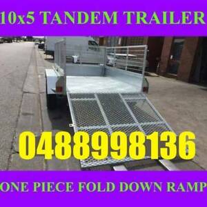 10x5 galvanised tandem box trailer with cage and ramp 70x50 chassis sa