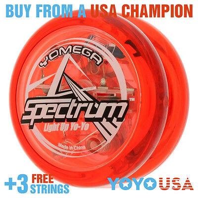 [WINTER SALE] Yomega Spectrum LED Light Up Yo-Yo - Clear Red + STRINGS