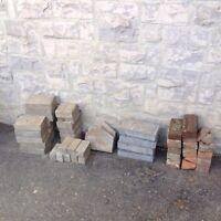 Paver Stones and Sidewalk Slab