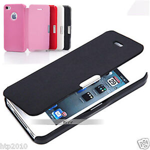 Ultra Slim Flip Leather Case Cover For Apple iPhone 4S 4