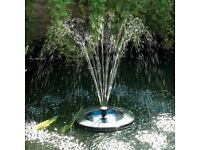Solar powered floating fountain - remote control & led lights