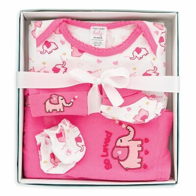 5-PC BABY GIRL BOX SET Elephant 0-3 MONTHS BEST BABY SHOWER