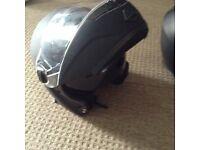 XL motorbike helmet flip front