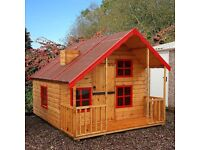 Children's wooden 'lodge style' playhouse - great price for a quick sale!