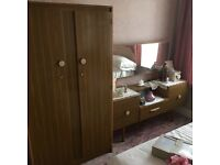 Wardrobe and dressing table, free