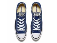 CONVERSE ALL STAR blue canvas trainers/ shoes size uk 8 eu 41.5