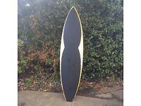 Surfboard chalk/message board