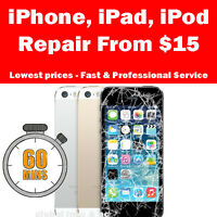 iPhone Screen Repair 4/4 $45 - iPhone 5 $65 - 5s/5c $70 - 1hr