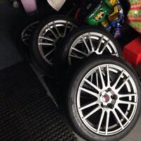 """Mags STI 18"""" sur pneus neuf! 1200$"""