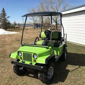 4 person JEEP GOLF CART