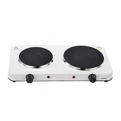 2500W ELECTRIC TWIN DUAL DOUBLE HOT PLATE TABLE TOP HOTPLATE PORTABLE NEW
