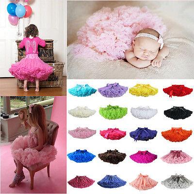 Baby Mädchen Pettiskirt Tutu Rock Kind Fluffy Ballet Petticoat Unterrock Slips