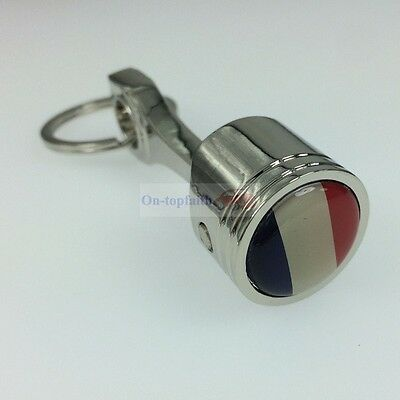 France FR Flag Piston Metal Piston Key Chain Keychain Ring For Peugeot Renault for sale  Shipping to South Africa