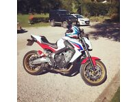 Honda CB650F 2014 Tri Colour. Lots of extras and has just been serviced.