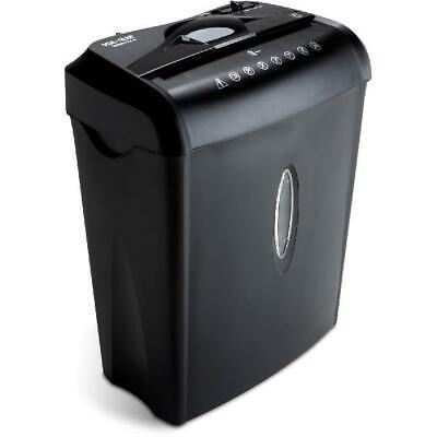 Home Office 6 Sheet Crosscut Paper Credit Card Shredder 3.7 Gallon Waste Basket
