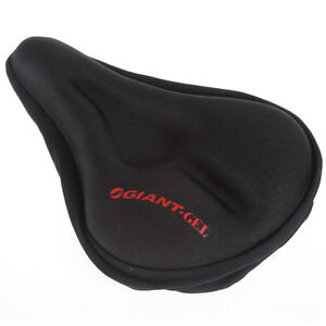 Black Comfortable & Durable Bike Bicycle Seat Cover Cushion Soft Gel Saddle