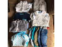Baby boys clothes bundle newborn/up to 1 month