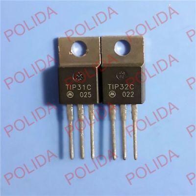 5pairs Or 10pcs Transistor Motorolaonsemi To-220 Tip31ctip32c Tip31cgtip32cg