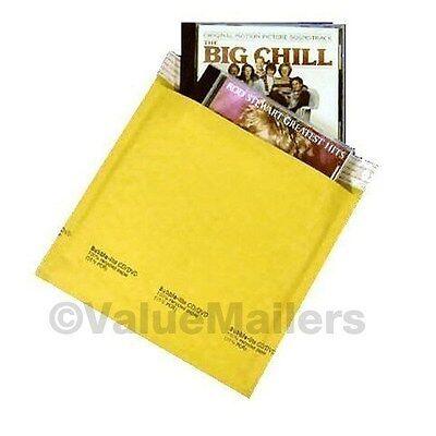 200 Cd 7.25 X 8 Kraft Bubble Mailers Cd Rom Envelopes
