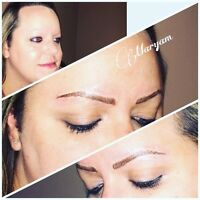 Permanent makeup artist $50 off for eyebrows