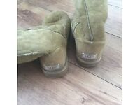 Olive green tall ugg boots