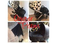 Complete set of pram and car seat