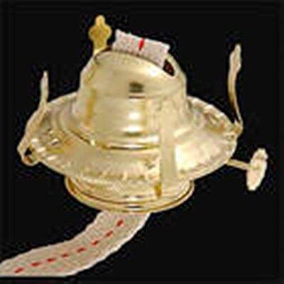 One Kerosene Oil Lamp Burner  #2 Size New Polished Brass