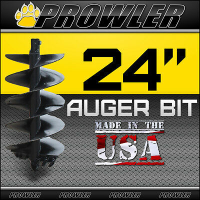 24 Auger Bit W Round Collar For Skid Steer Loaders 4 Length - 24 Inch