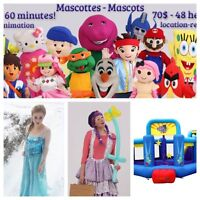 Mascotte - princesse - location jeu gonflable  - clown - DJ
