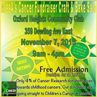 Craft and Bake Sale for Childhood Cancer Research