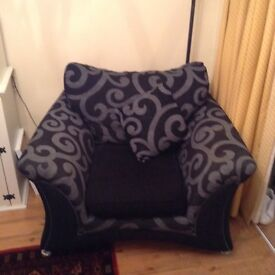 Black and grey armchair