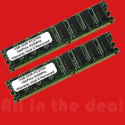 2GB Kit PC2700 LOW DENSITY DDR 2 X 1GB DDR 333 Mhz 184pin Desktop MEMORY  ()