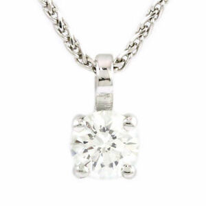14k White Gold Diamond Pendant (0.52 ct) #3234