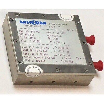 1720-1755mhz G13.3db Nf 1.4dbmax Sma Low Noise Amplifier For Tna