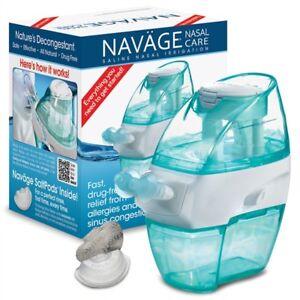 NAVAGE FACTORY REFURB BUNDLE: Nose Cleaner & 18 SaltPods ($89.95 new) Neti Pot