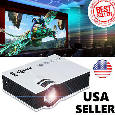 1200 Lumens Full HD 1080P LED LCD VGA HDMI TV Home Theater Projector Cinema