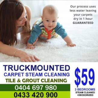 Truckmounted carpet steam cleaning
