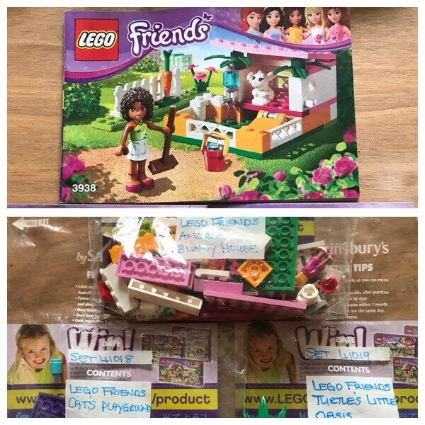 Sets 3938 41018 41019 Lego Friends Andreas Bunny House Cats