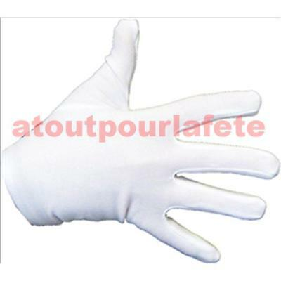 Handschuhe weiß kurz Kind, - Kind Mime Kostüm