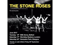 2 x Stone Roses Tickets - Wembley Stadium 17/06/2017 - STANDING