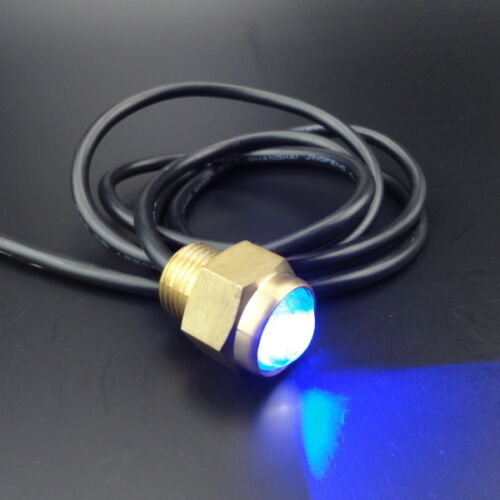 """1//2/"""" NPT 12V LED Drain Plug Light Marine Underwater Built-in Latest LED Chip Set"""