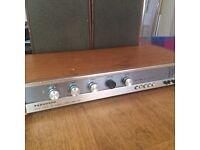 Vintage Ferguson amp with speakers retro art deco