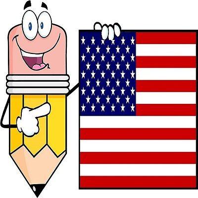 30 Custom American Pencil Personalized Address Labels