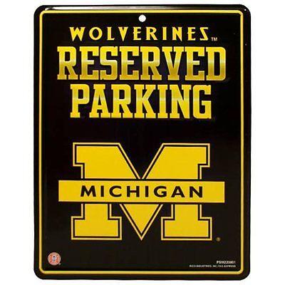 Michigan Wolverines Parking Sign (MICHIGAN WOLVERINES 8.5