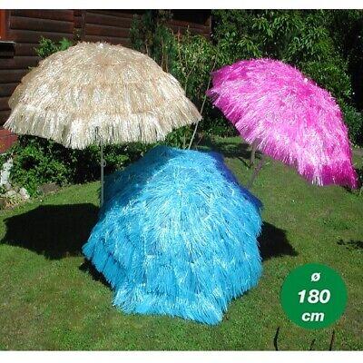 Beige Hawaii Sonnenschirm 160 cm Strand Strandschirm Bast Schirm Sonnenschutz
